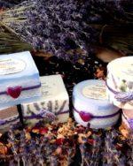 Bougie de Provence Lavande décorées main