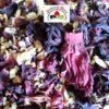 tisane avec fleurs de jasmin et hibiscus