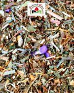 mélange de plantes et de fleurs aromatisé mangue violette